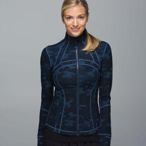 Lululemon Define Jacket Lotus Camo Oil Slick Blue